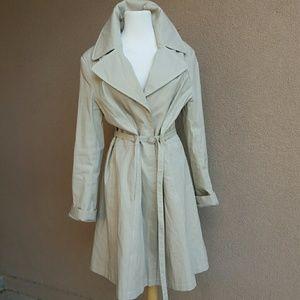 VIA SPIGA Skirted Rain/Trench Coat
